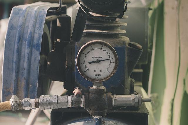 Eine alte Pumpe die noch im Einsatz ist